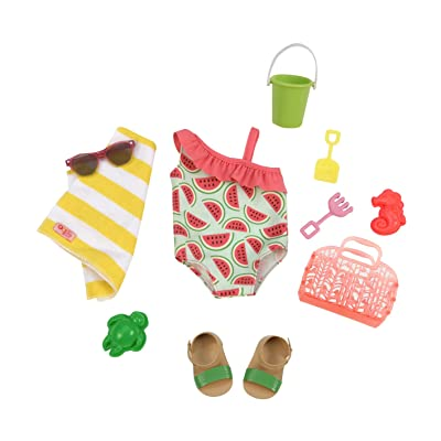 Our Generation Dolls Slice of Fun Watermelon Bathing Suit: Toys & Games