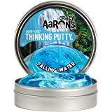 """Crazy Aaron's Transparent Thinking Putty - 4"""" Falling Water Liquid Glass See Through Putty Tin - 90 Grams, Never Dries Out"""