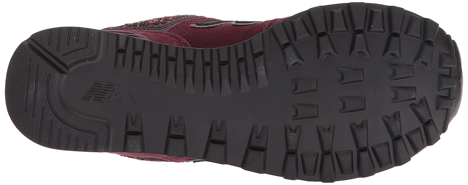 New Balance Women's 574v1 Sneaker B01MY1Y86D 6 B(M) US|Chocolate Cherry With Black Rose