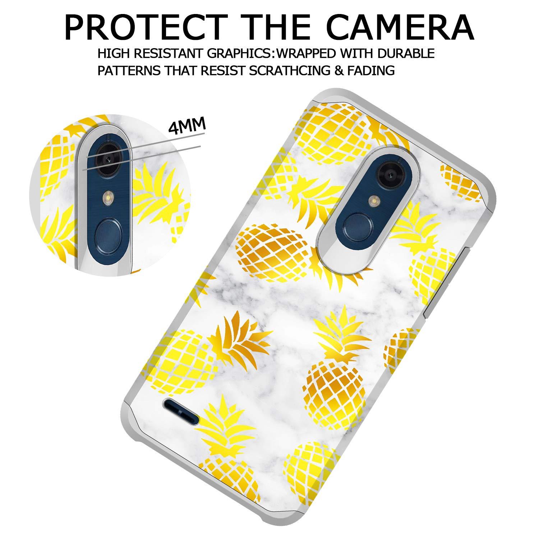 GORGCASE LG K30 Case, LG K10 2018 Case, LG Premier Pro LTE, LG Harmony 2 with Screen Protector, Slim Cute Shockproof Hard TPU Girls Women Men Armor Protective Cover for LG Phoenix Plus Pineapple by GORGCASE (Image #3)
