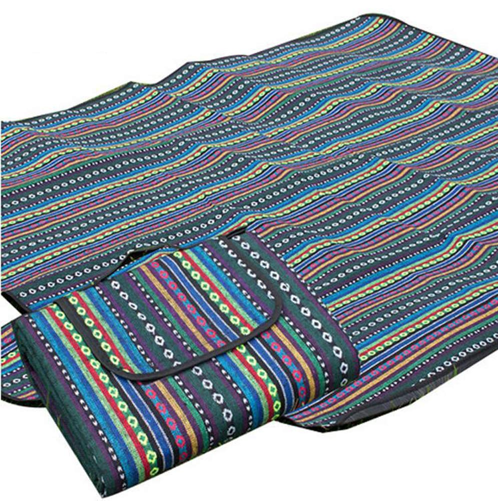 SJZC 150x200cm ethnischen Stil Outdoor picknickdecke Wasserdichte Isolierung Wasserdichte Falten Park Klettern strandmatte