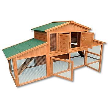 XXL conejera gallinero caseta roedores animales pequeños corredor espacio libre extra grande: Amazon.es: Jardín