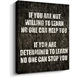 Pigort Motivational Quotes Wall Decor, If You Are Inspirational Motto Canvas Print Office Home Wall Art, A