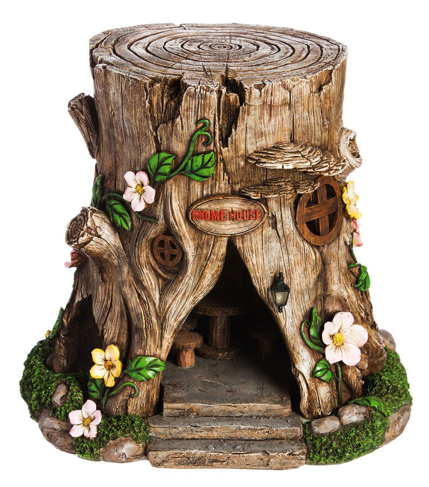 New Creative Tree Stump Lighted Fairy House