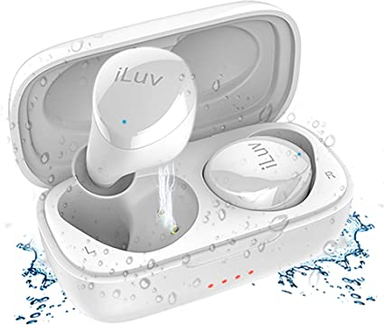 Amazon Com Iluv Tb100 White True Wireless Earbuds Cordless In Ear Bluetooth 5 0 With Hands Free Call Microphone Ipx6 Waterproof Protection High Fidelity Sound Includes Compact Charging Case 3 Ear Tips Electronics