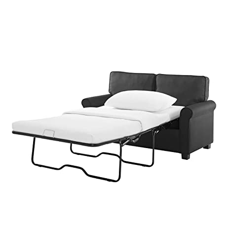 Amazon Com Modern Loveseat Sofa Sleeper With Memory Foam