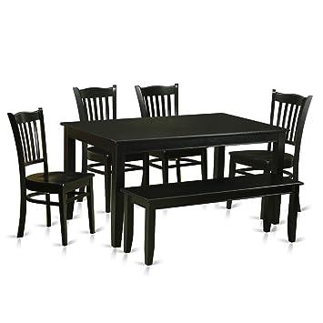 Amazon East West Furniture DUGR-BLK-W  Piece Kitchen Table