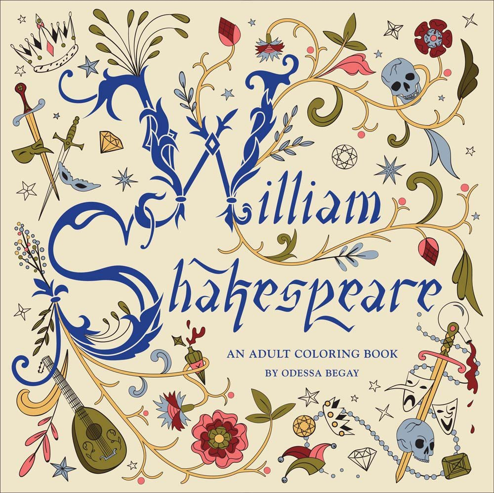 william shakespeare an adult coloring book