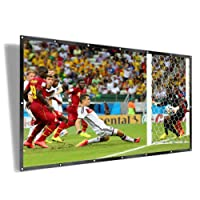 UTSLIVE 120 Inches 16:9 Simple Projector Screen Polyester Portable Foldable Wall Mounted Cinema Front and Rear Projection Screen For Home Theater Outdoor Office Classroom Movie