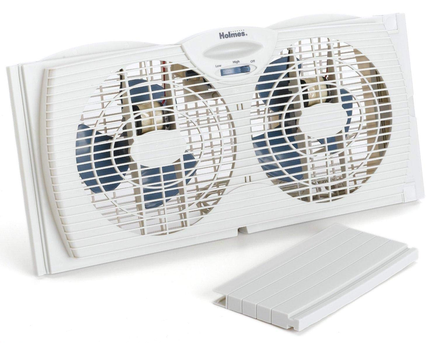 Holmes Window Fan with with Twin 6-Inch Reversible Airflow Blades by Holmes