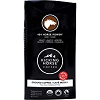 Kicking Horse Coffee, 454 Horse Power, Dark Roast, Ground, 284 g - Certified Organic, Fairtrade, Kosher Coffee