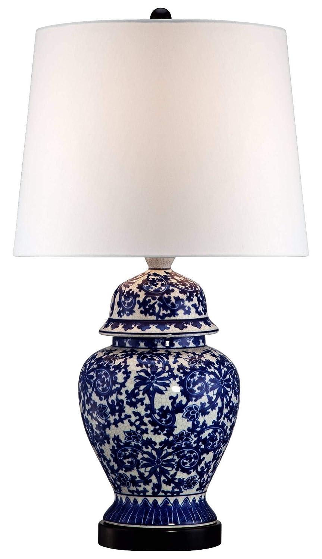 Amazon.com: Azul y Blanco Porcelana lámpara de mesa Templo ...