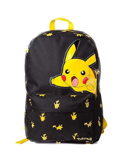 Mochila Pokemon Big Pikachu (Negro/Amarillo)