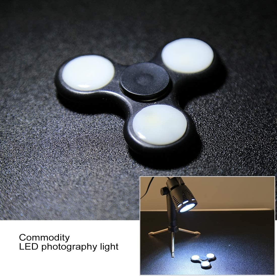 Color : White Light Perfect Home Convenience Durable 6W 12 SMD 5730 LED Photography Photo Studio Portable Handheld Light Lamp Durable