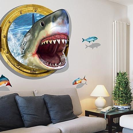 3D Submarine World Under Sea Unique Decor Removable Wall Art Sticker Decal  Home Kid Room Decor