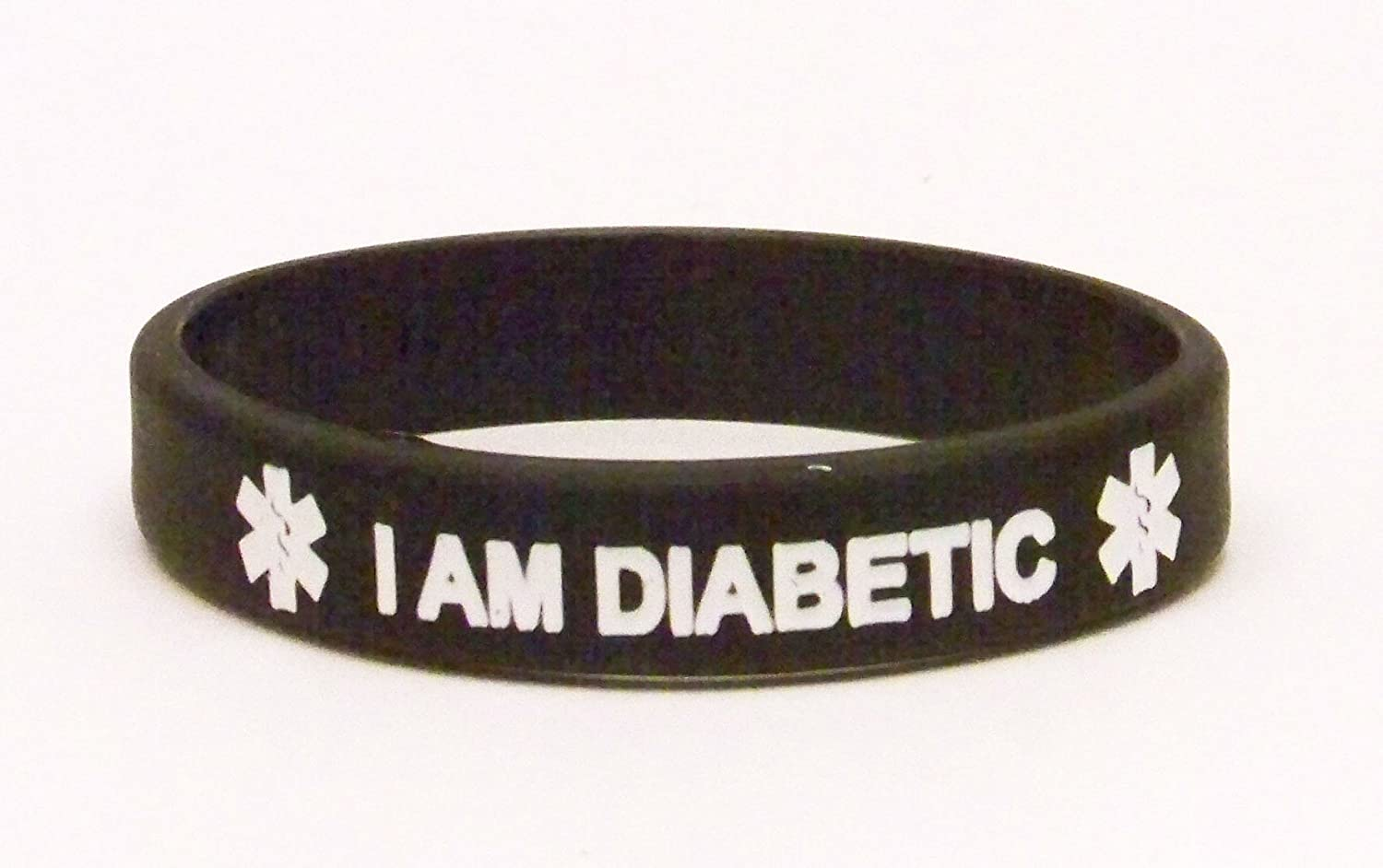 Amazon: Silicone Diabetic Medical Id Bracelet, Black, Toddler Size:  Identification Bracelets: Jewelry