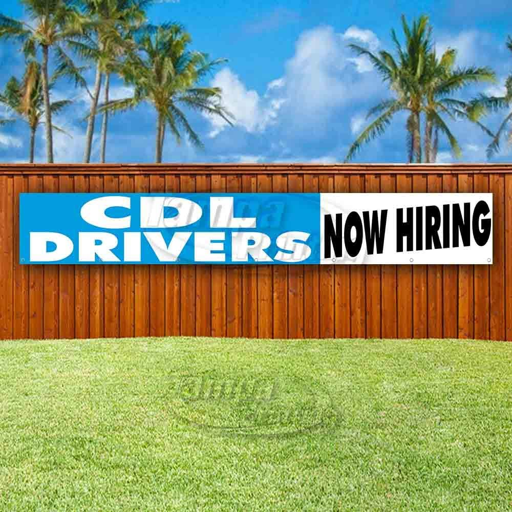 New Many Sizes Available Advertising Store CDL Drivers Now Hiring Extra Large 13 oz Heavy Duty Vinyl Banner Sign with Metal Grommets Flag,