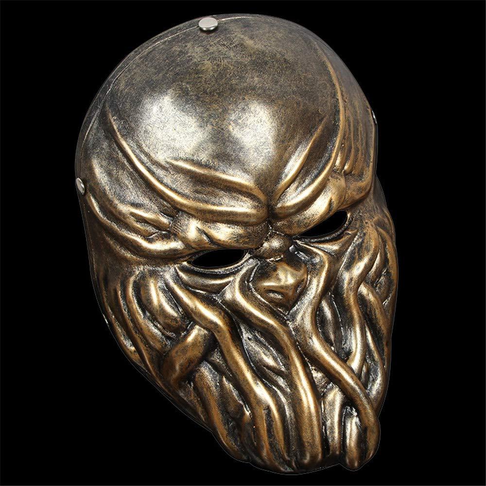 NUOKAI Halloween Harz Clown Maske, Oktopus Gold