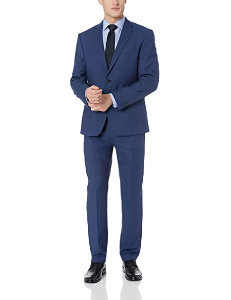 Amazon.com: VINCE CAMUTO - Traje ajustado para hombre con ...