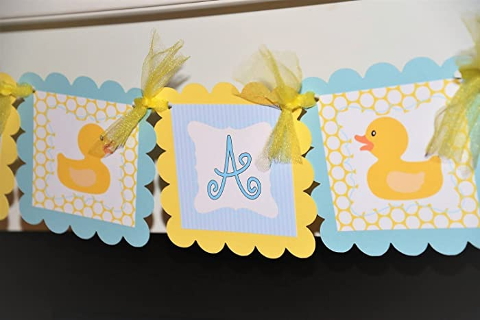 Amazon Com Light Blue And Yellow Its A Boy Rubber Ducky Baby Shower