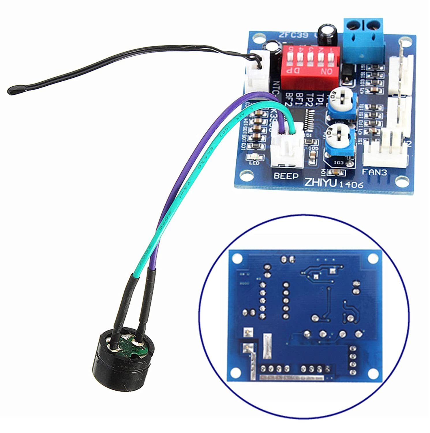 Dc 12v Pwm Pc Cpu Fan Temperature Control Speed Control4 Thermostat Wiring Controller Alarm Module Computers Accessories