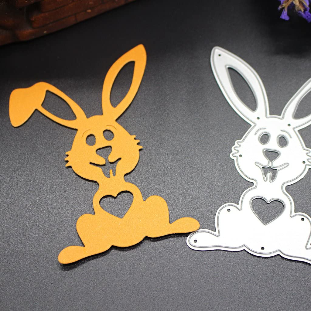 Ranuw Matrices De D/écoupe,Bricolage Lapin D/écoupes Matrices Pochoirs Scrapbook Album Carte Papier Embossing Craft Cadeau