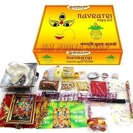 Amazon com: Om Pooja Shop Navratri Puja Kit | Durga Puja
