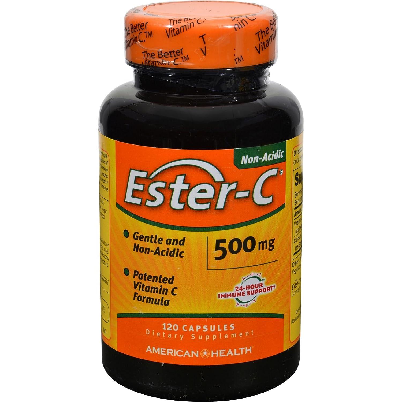 American Health Ester-C - 500 mg - Unique Gentle Form of Vitamin C - Gluten Free - 120 Capsules (Pack of 2)