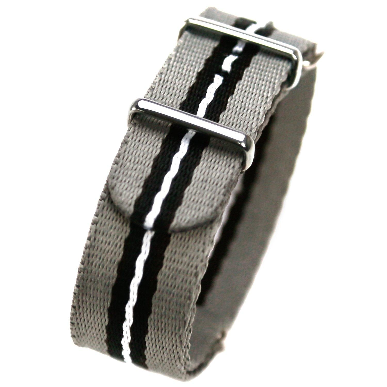 HDT Design N.A.T.O. Short Type Nylon Watch Strap Monochrome [22mm]