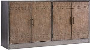 Hooker Furniture Melange Cooper 4 Door Credenza in Light Wood