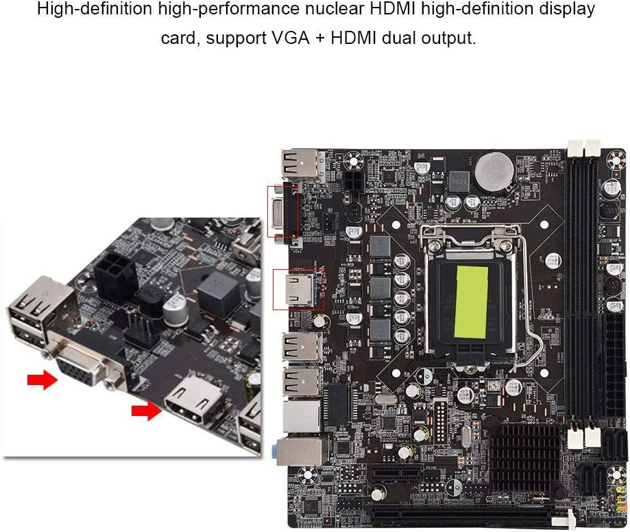 Motherboard,Solid State Motherboard,H61 Computer Motherboard,B Model,Support DDR3 Memory 4 USB2.0,Support 1066//1333 1600//1866