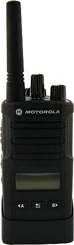 Motorola RMU2080D On-Site 8 Channel UHF Rugged Two-Way Business Radio with Display and NOAA Black