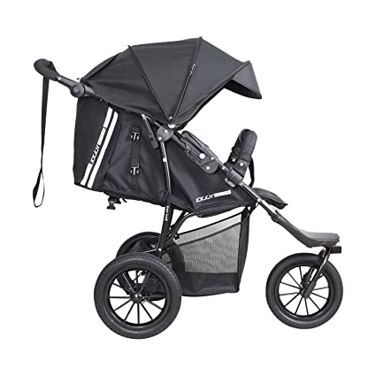 Knorr-baby 883050 Rueda de Coche Deportivo, Joggy Novo Active, color negro