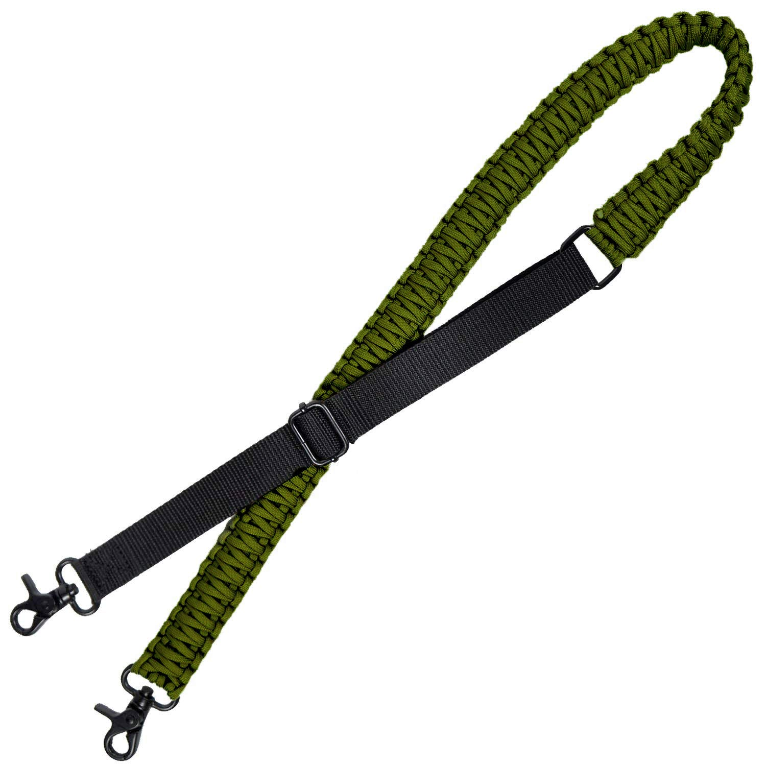 LIVABIT Adjustable 550 Paracord Strap with Dual Two Point 360 Degree Swivel Rotating Latches ODG