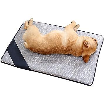 STAZSX Perros Gatos de Verano Alfombrilla Alfombrillas de Hielo Mascotas Peluche Pequeños Perros Grandes Hielo Seda Alfombra de Verano Alfombrillas para ...