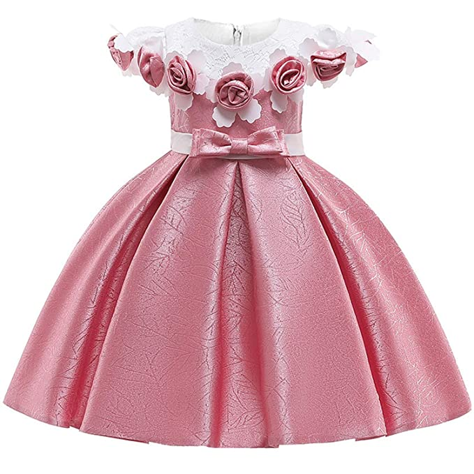 Amazon.com: Vestido de princesa grande para niña con flores ...