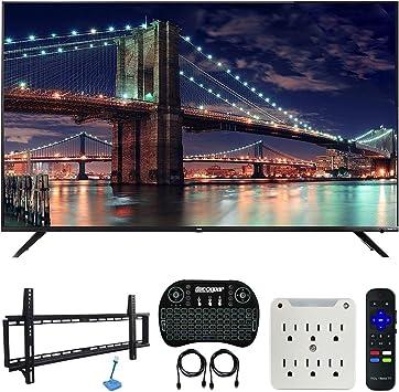TCL 75R617 paquete de TV inteligente 4K UHD Dolby Vision HDR Roku de 75 pulgadas con