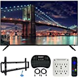 TCL 75R617 75-inch 6-Series 4K UHD Dolby Vision HDR Roku Smart TV (2019) Bundle with 37-70-inch Low Profile Wall Mount Kit, D