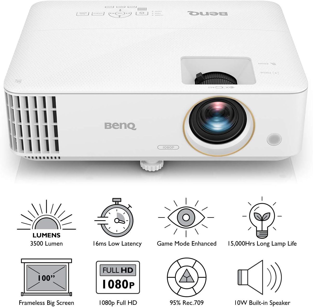 BenQ TH585 Proyector DLP Gaming 1080p 3500lm, HDMI, 3D, Baja ...