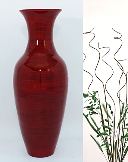 Amazon Greenfloralcrafts 27 Inassic Bamboo Floor Vase With