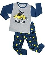 PHOEBE CAT Truck Boys Pajamas Toddler Sleepwear Clothes T Shirt Pants Set For Kids