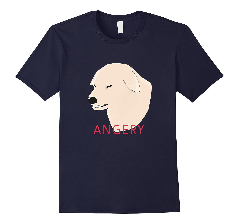 Angery Doggo Meme Shirt - Angry Dog T-shirt-TH