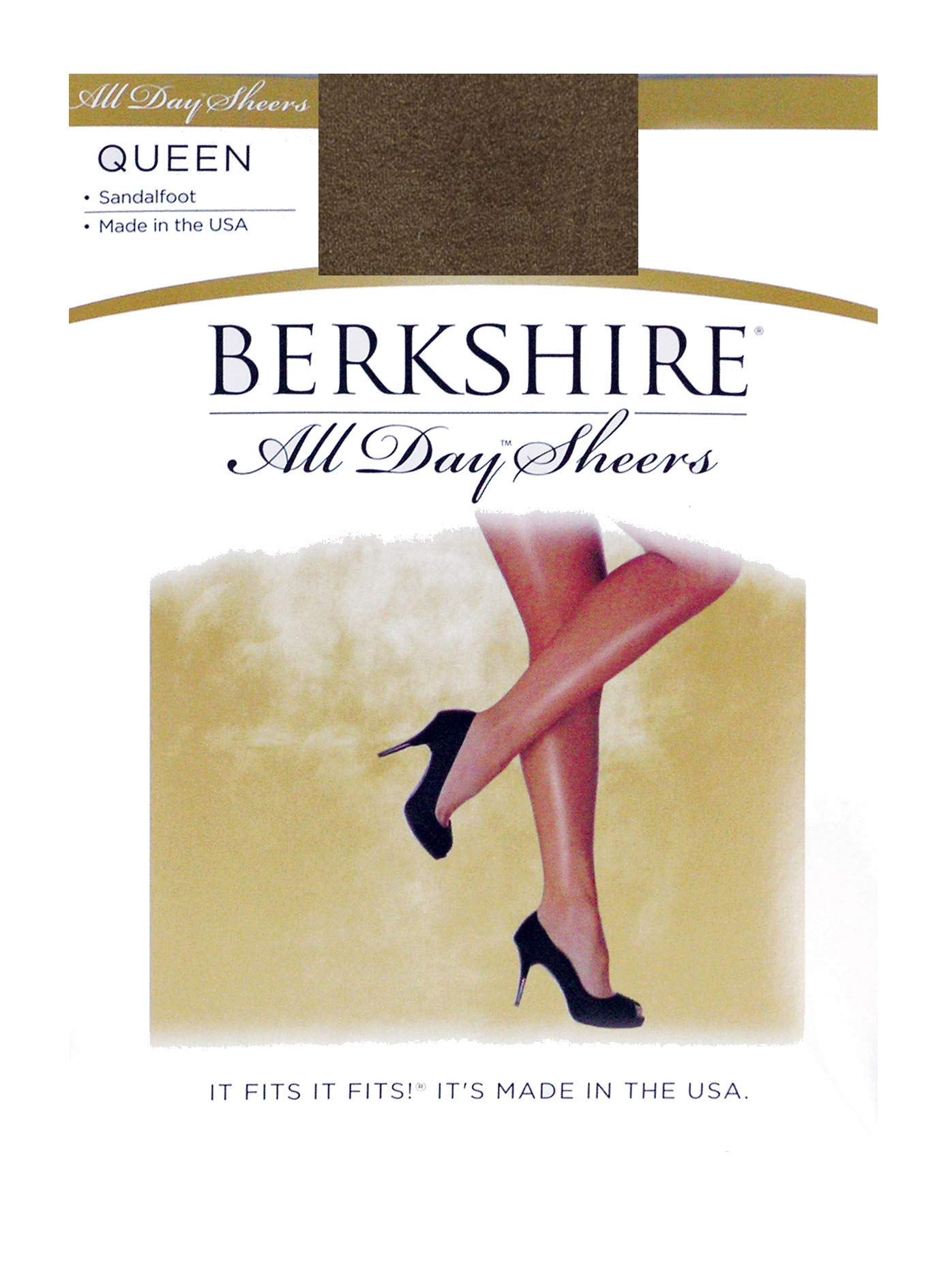 ffa08c2d8 Berkshire Women s Plus-Size Queen All Day Sheer Non-Control Top Pantyhose -  Sandalfoot