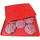Pressa hamburger, iNeibo Kitchen Stampo per hamburger 5in1 Multifunzione, Realizzato in silicone alimentare privo di BPA, Può essere utilizzato come contenitore per cibi nel freezer, Prefetto per realizzare polpette, barbecue, tortini di carne ecc
