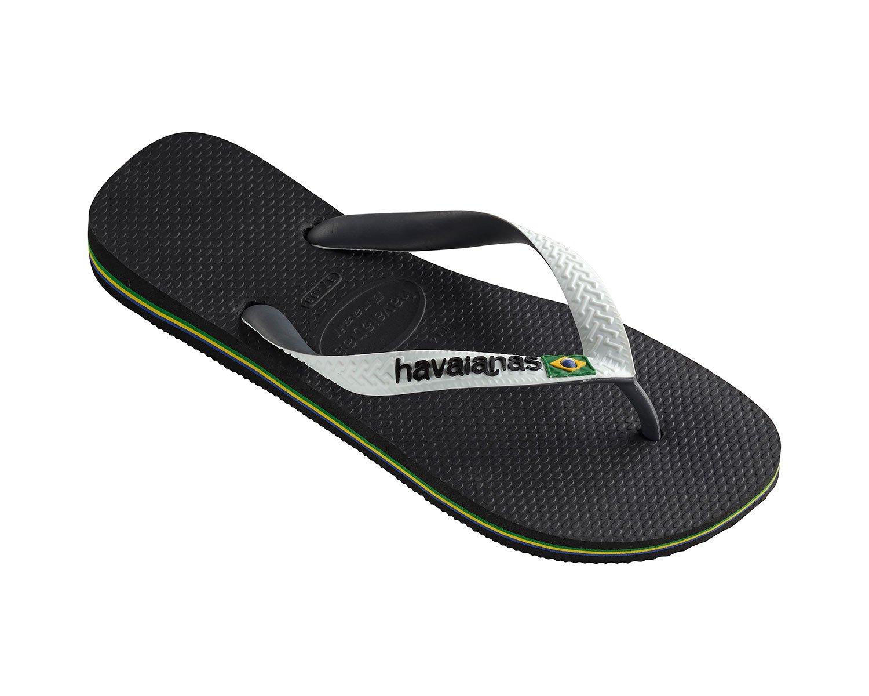 Havaianas Men's Brasil Mix Flip Flops, Black, 9 US (41/42 BR)