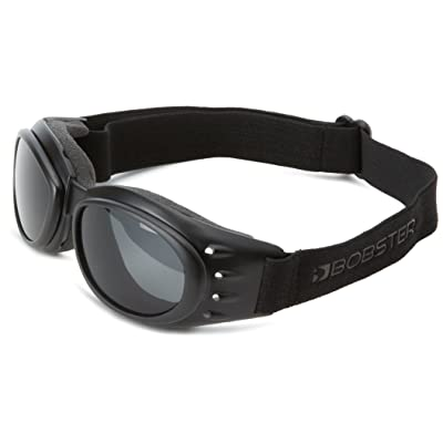 Bobster Cruiser 2 Goggles, Black Frame/3 Lenses (Smoked, Amber and Clear): Clothing