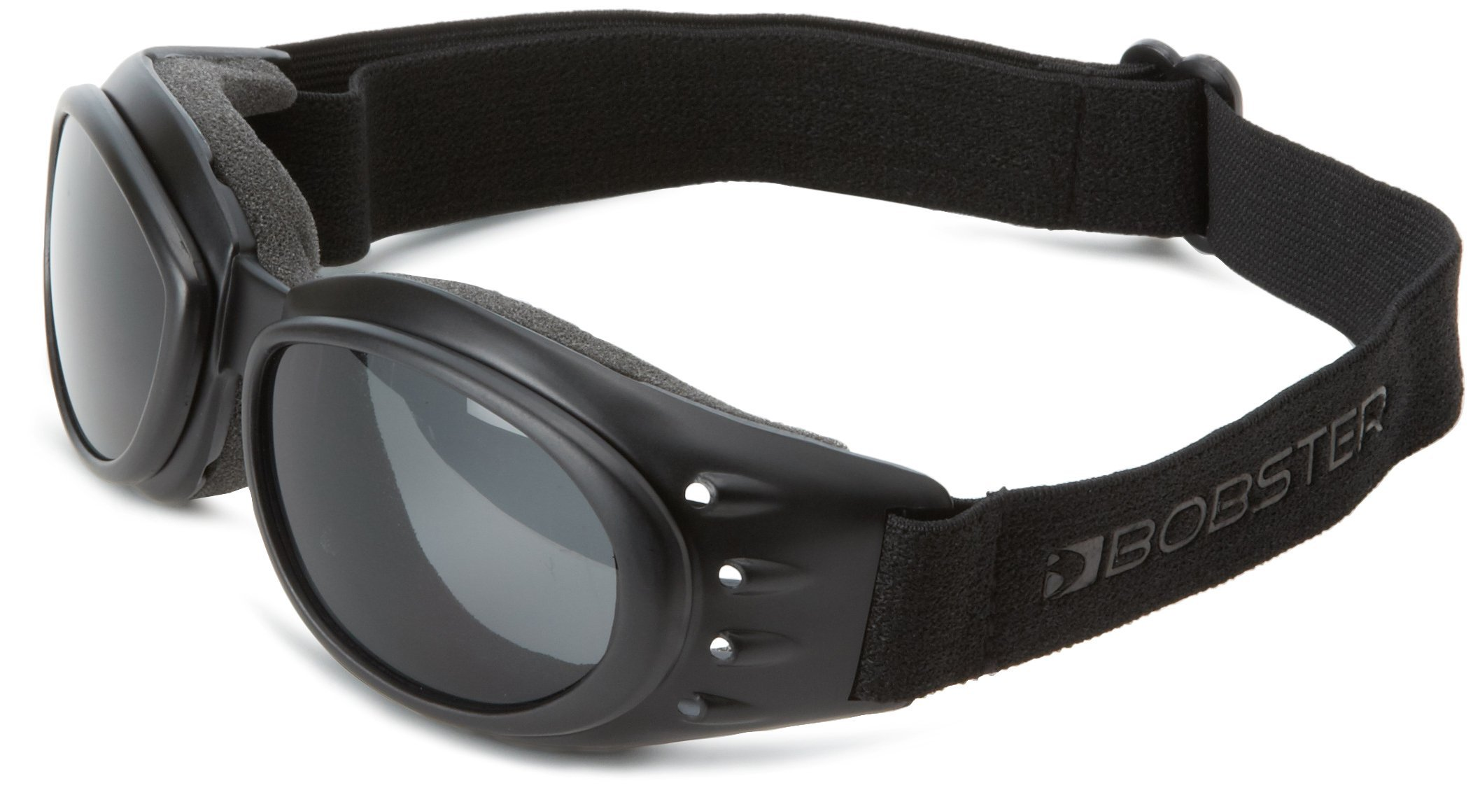 Bobster Cruiser 2 Goggles, Black Frame/3 Lenses (Smoked, Amber and Clear) by Bobster