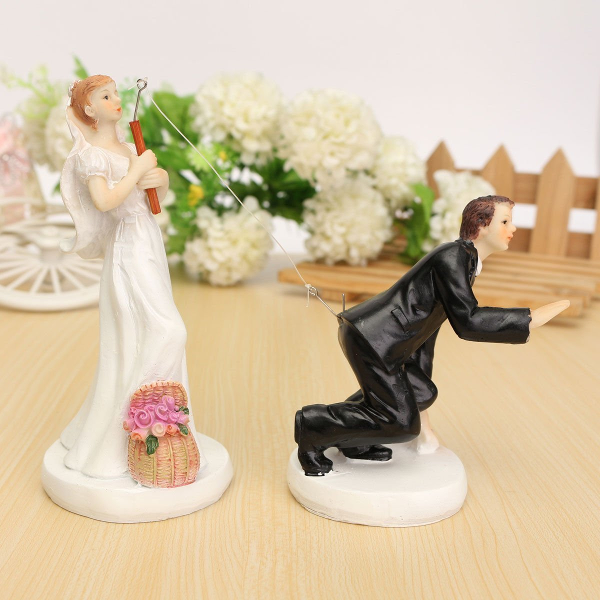 Amazon.com: Groom hooked COUPLE - TOOGOO(R)FUNNY ROMANTIC WEDDING ...