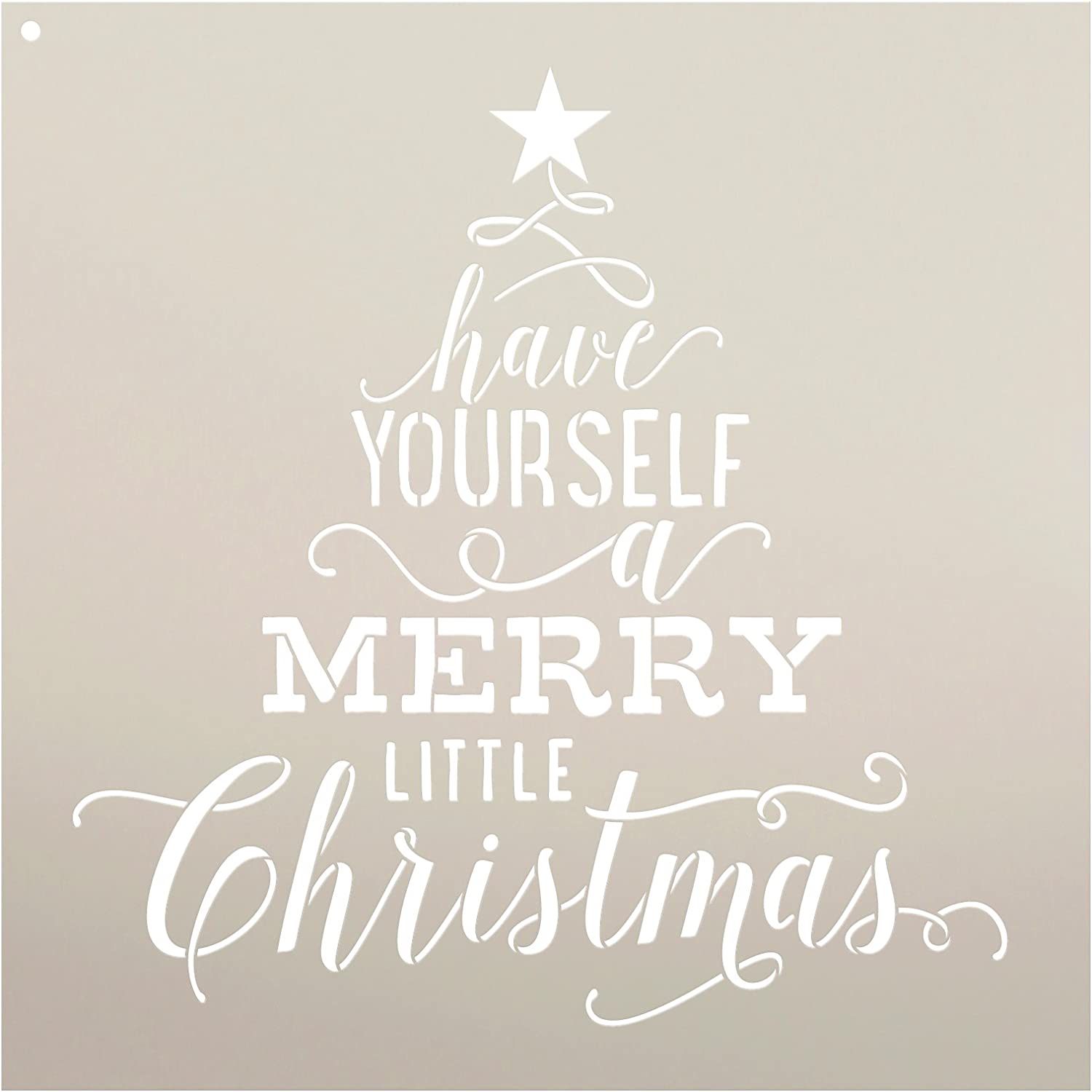 """Have Yourself A Merry Little Christmas Stencil by StudioR12 