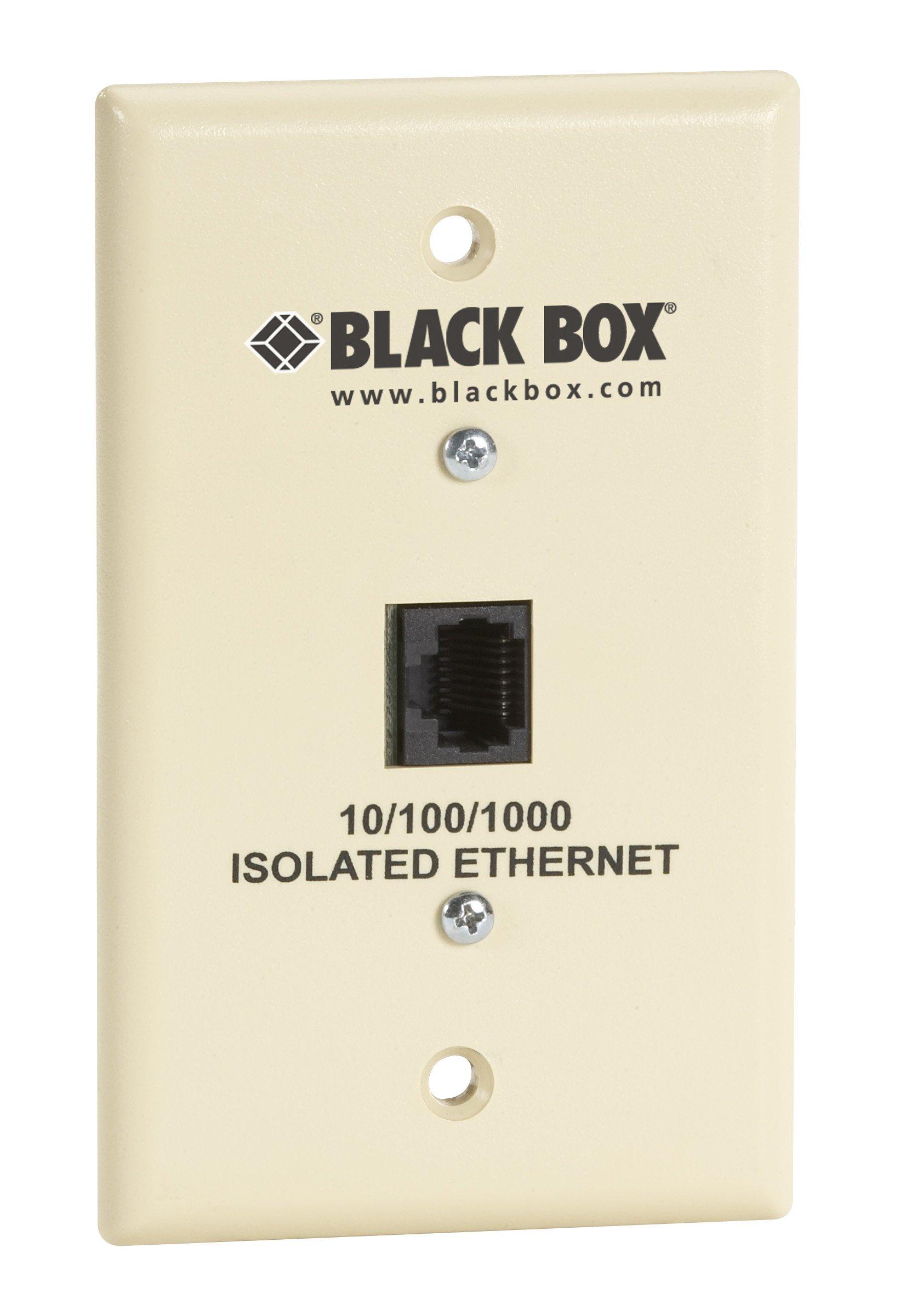Black Box Wallplate Data Isolator 10/100/1000-Mbps 4K